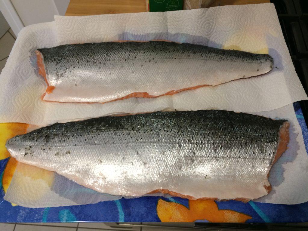 Les filets de saumon à fumer